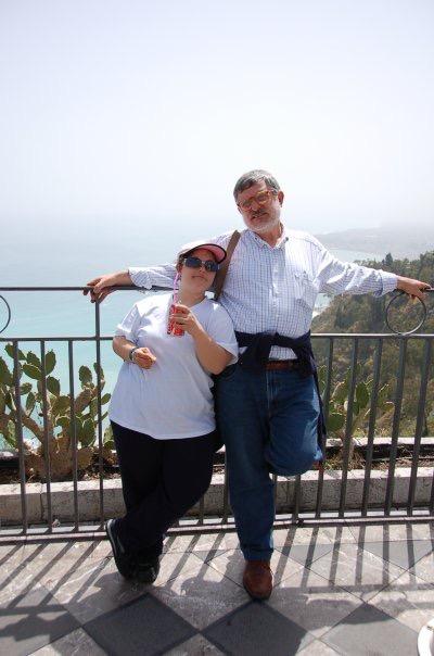 Angelo Buscema con la figlia Fabiola